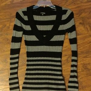 Express Long Vee Neck Sweater
